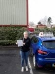 Maddie Dunn passed with Rob Milne School Of Motoring