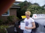 Ross Winterbourne passed with Rob Milne School Of Motoring