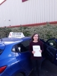 Sophie Parsons passed with Rob Milne School Of Motoring