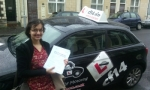 Amaani passed with cf14 School Of Motoring