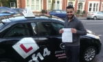 Ashish passed with cf14 School Of Motoring