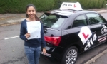Faheeza passed with cf14 School Of Motoring