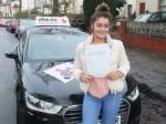 Eleanor 20.12.17 passed with cf14 School Of Motoring