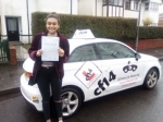 Elise 22/02/2017 passed with cf14 School Of Motoring