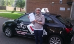 Fatima passed with cf14 School Of Motoring