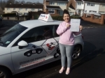 Zahra 08/03/2017 passed with cf14 School Of Motoring