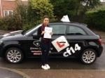 Nicole passed with cf14 School Of Motoring