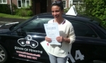 Sabrina passed with cf14 School Of Motoring