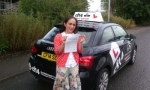Shumaila passed with cf14 School Of Motoring