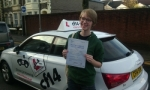 Siobhan passed with cf14 School Of Motoring
