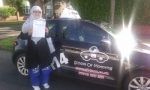 Tahira passed with cf14 School Of Motoring