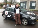Yasmin 27.01.17 passed with cf14 School Of Motoring