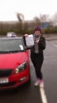 MEGAN WARD passed with Simon Hartley Driver Training