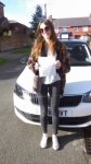 SOPHIE ADAMS passed with Simon Hartley Driver Training