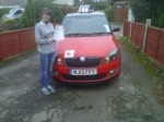 AMBER MCCORY passed with Simon Hartley Driver Training