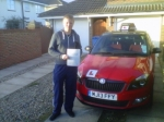 JOE HILLS passed with Simon Hartley Driver Training