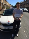CAMERON BROWN passed with Simon Hartley Driver Training