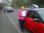 DIANE WOFF passed with Simon Hartley Driver Training