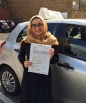 Mariya passed with SKY DRIVING SCHOOL
