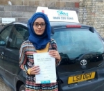 Selina Begum passed with SKY DRIVING SCHOOL