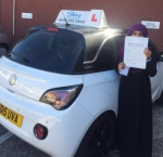 Sayda passed with SKY DRIVING SCHOOL