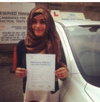 Salma passed with SKY DRIVING SCHOOL