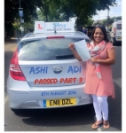 Ashi Choudhury passed with SKY DRIVING SCHOOL