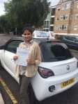Vanisha passed with SKY DRIVING SCHOOL