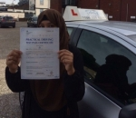Farida passed with SKY DRIVING SCHOOL