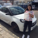 Zaynab passed with SKY DRIVING SCHOOL