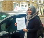 Sadiyya Yasmin passed with SKY DRIVING SCHOOL