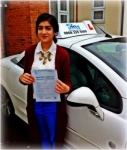 Azra passed with SKY DRIVING SCHOOL