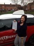 Hannah Chamberlin passed with Steve Chillingworth Driver Training