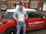 7th March 2017 passed with Steve Chillingworth Driver Training
