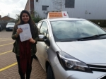 Kanvi passed with Empower Driving School