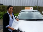 Neha passed with Empower Driving School