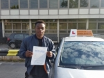 Marc Bola - Arsenal's FC left back passed with Empower Driving School