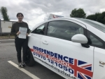 AREDEE PERICLEOUS passed with Independence Driving School