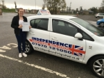 ASHLEIGH SUTTON passed with Independence Driving School