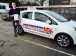 Aaron Townend passed with Independence Driving School