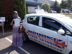 Aklima Akter passed with Independence Driving School