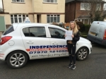 Alice Brannan passed with Independence Driving School