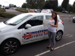 AMY SHAW passed with Independence Driving School