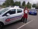 Rebekkah Loczki passed with Independence Driving School