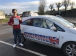 CALLUM KNIGHTON passed with Independence Driving School