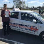 CHARLIE PIKE  passed with Independence Driving School