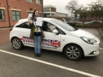 Dani Charlton passed with Independence Driving School