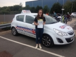 Elicia Cowley passed with Independence Driving School