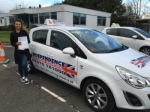 Georgina Cross passed with Independence Driving School