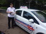 INNES WOOD passed with Independence Driving School